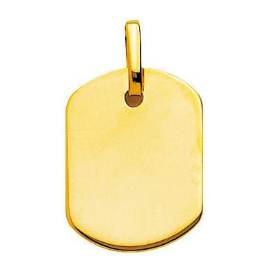 Photo de Pendentif plaque tonneau - Or jaune 18ct