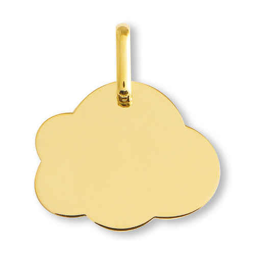 Photo de Médaille Nuage - Or jaune 18ct