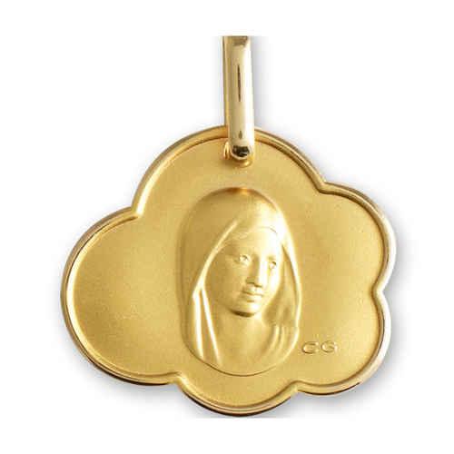 Photo de Médaille nuage Vierge - Or jaune 9ct