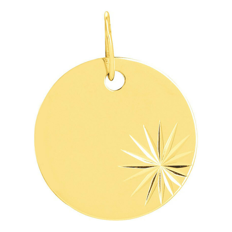Photo de Médaille étoilée - Or jaune 9ct