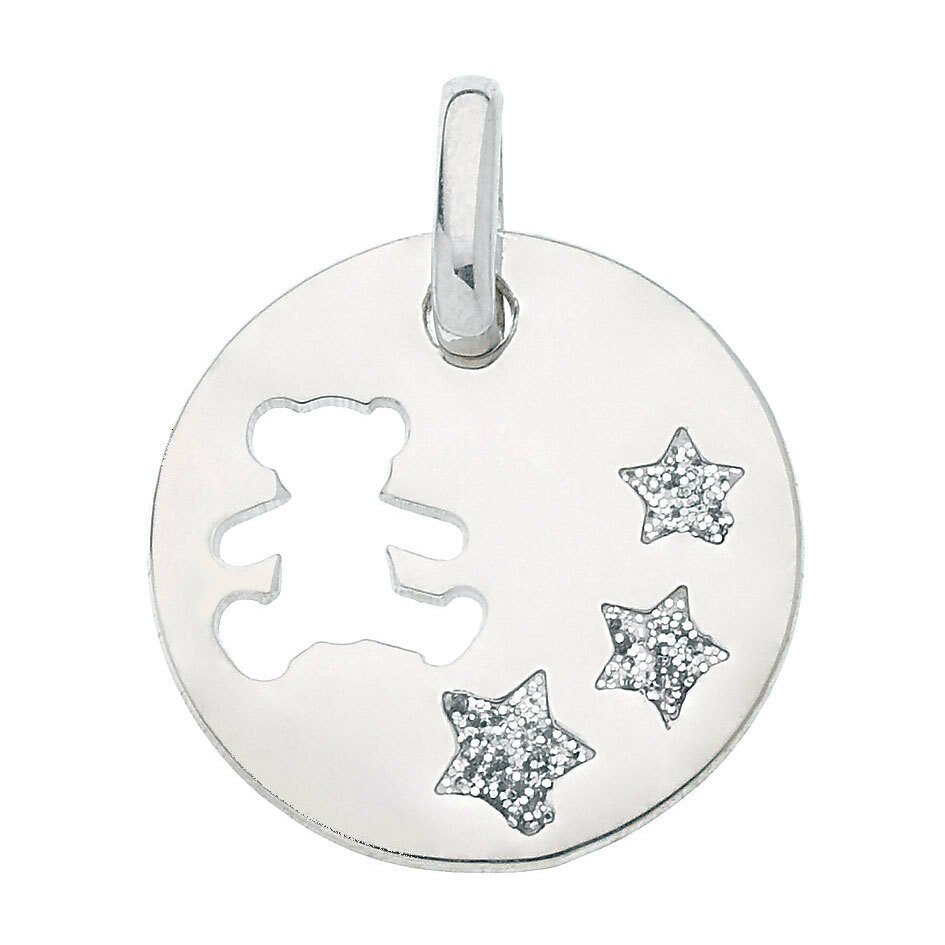 Photo de Médaille aux étoiles LuluCastagnette - Argent massif