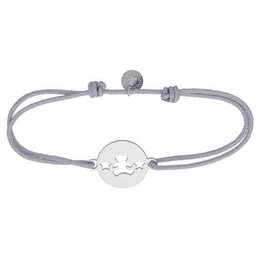 Photo de Bracelet cordon étoiles LuluCastagnette - Argent massif