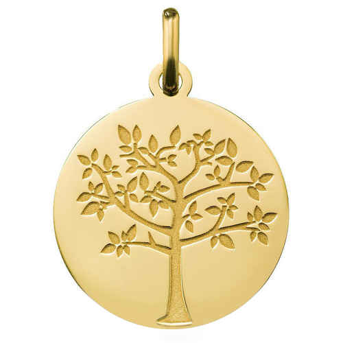 Photo de Médaille Arbre de vie printanier - Or jaune 18ct