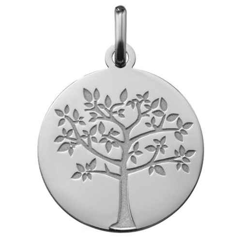 Photo de Médaille Arbre de vie printanier - Or blanc 18ct