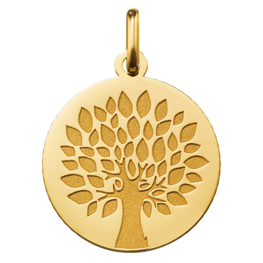Photo de Médaille Arbre de vie contemporain - Or jaune 18ct