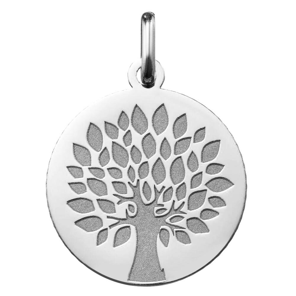 Photo de Médaille Arbre de vie contemporain - Or blanc 18ct