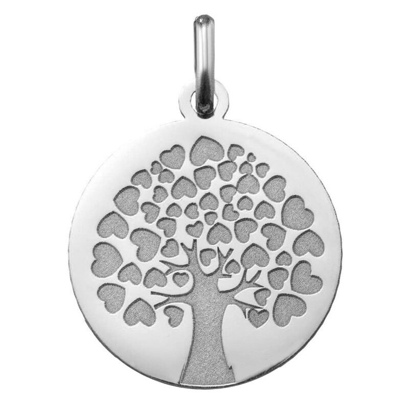 Photo de Médaille Arbre de l'Amour - Or blanc 18ct