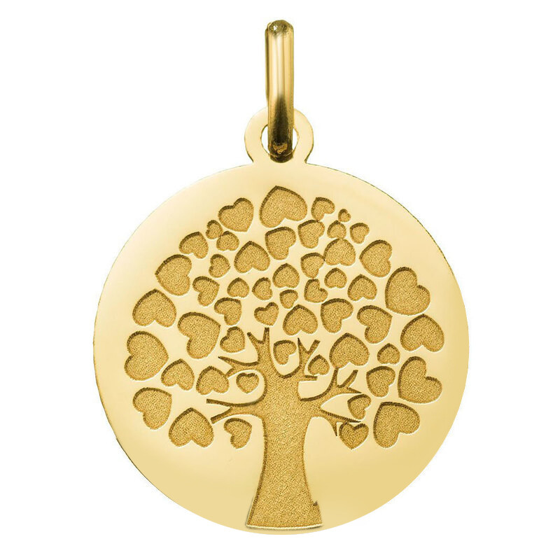 Photo de Médaille Arbre de l'Amour - Or jaune 18ct
