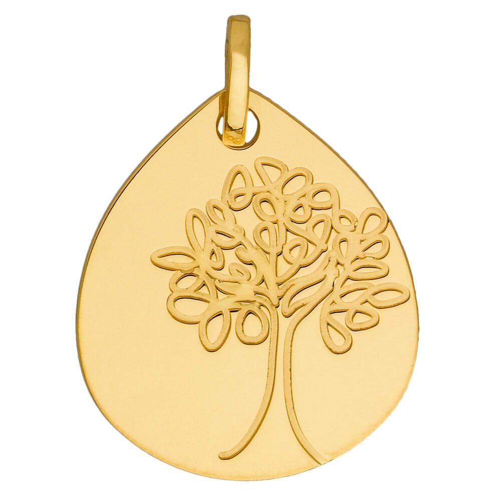 Photo de Médaille Arbre de vie - Or jaune 18ct