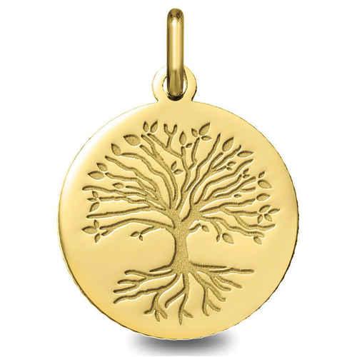 Photo de Médaille Arbre de vie aux racines - Or jaune 18ct