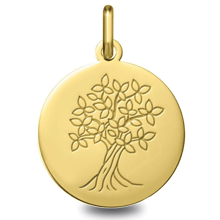 Photo de Médaille Arbre de vie épanoui - Or jaune 18ct