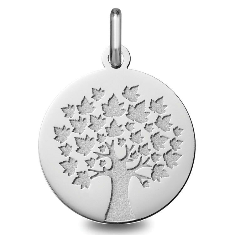 Photo de Médaille Arbre de vie - saison été - Or blanc 18ct