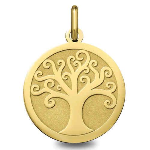 Photo de Médaille Arbre de vie ondulé - Or jaune 9ct
