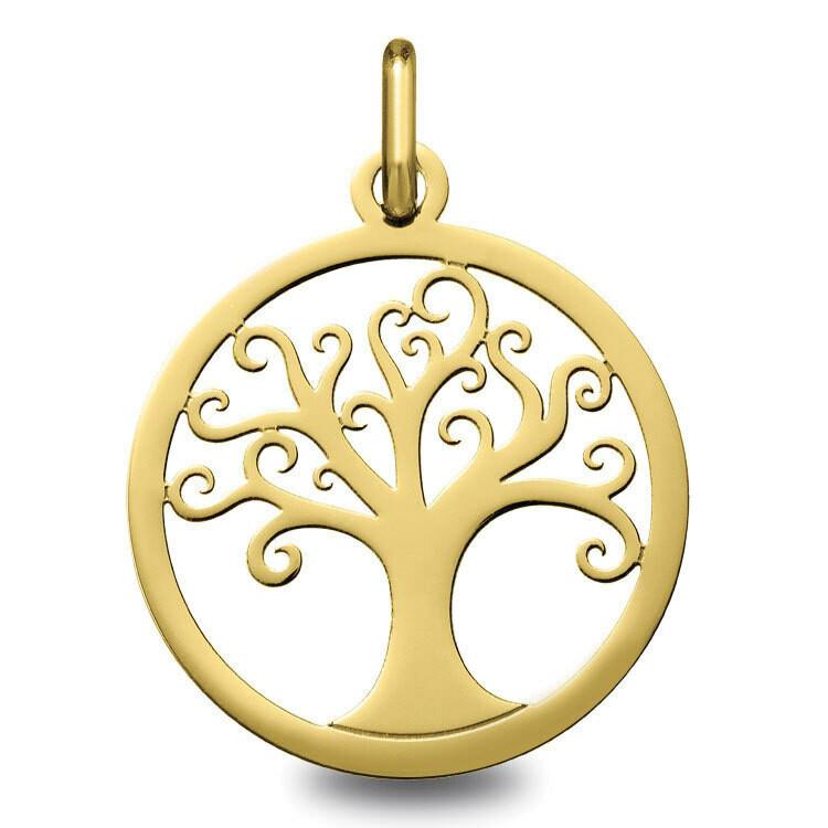 Photo de Médaille Arbre de vie ondulé ajourée - Or jaune 9ct