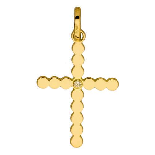 Photo de Croix - diamant & or jaune 18ct