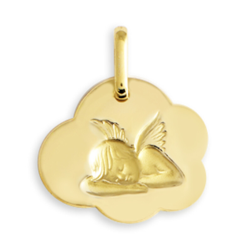 Photo de Médaille Ange nuage - Or jaune 9ct