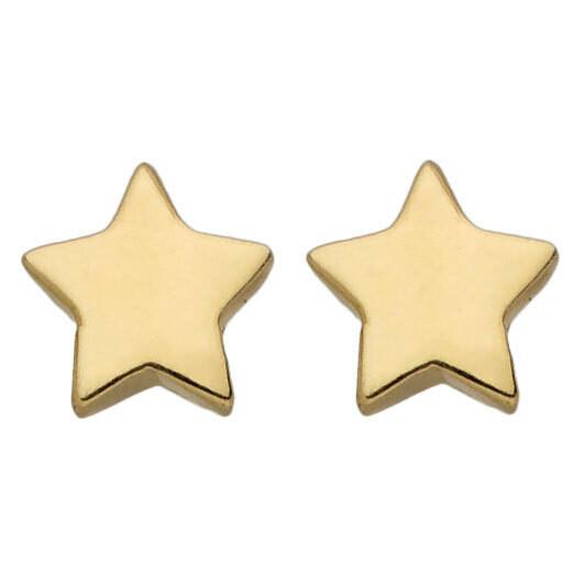 Photo de Boucles d'oreilles étoiles - Puces - Or jaune 9ct