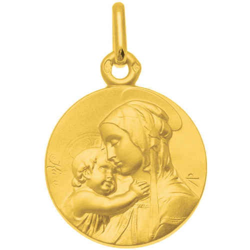 Photo de Médaille Vierge à l'enfant de Botticelli - Or jaune 9ct