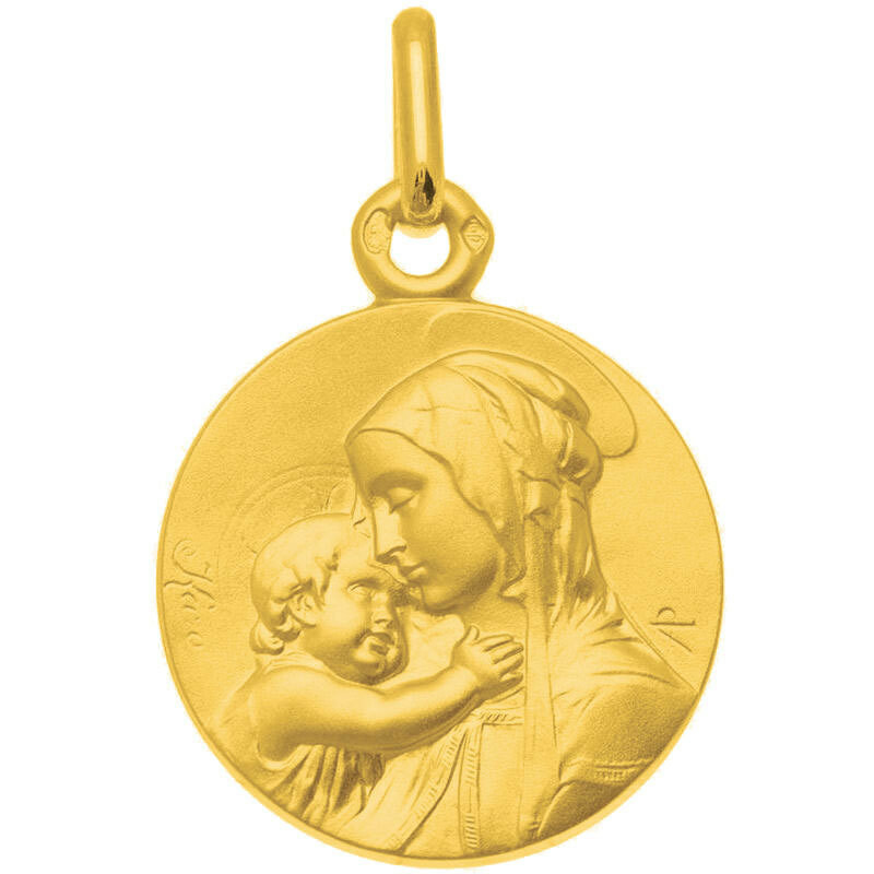 Photo de Médaille Vierge à l'enfant de Botticelli - Or jaune 18ct