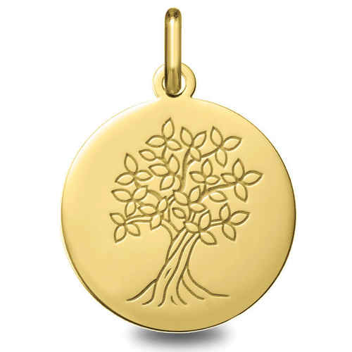 Photo de Médaille Arbre de vie épanoui - Or jaune 9ct