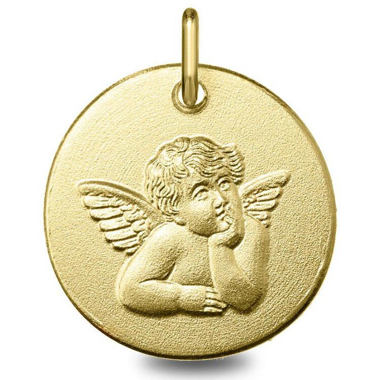 Photo de Médaille Ange pensif - Or jaune 9ct