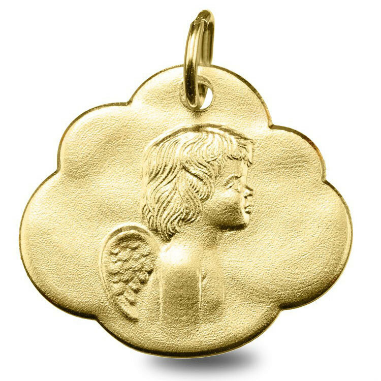 Photo de Médaille nuage Ange - Or jaune 9ct