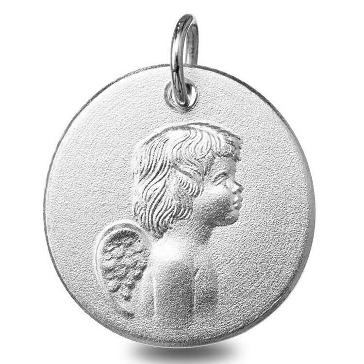 Photo de Médaille ange - Or blanc 9ct