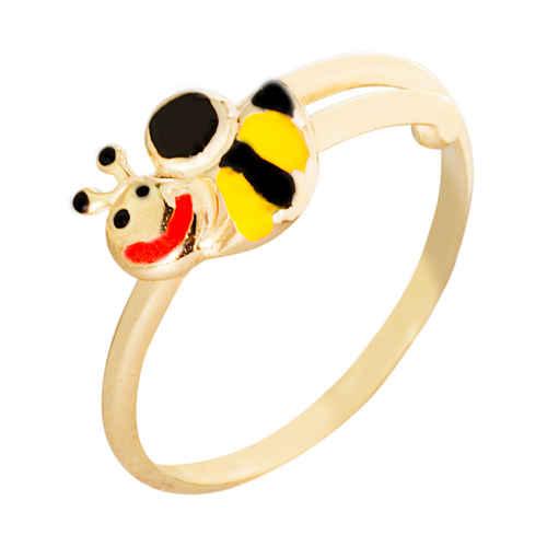 Photo de Bague enfant abeille - Or jaune 9ct