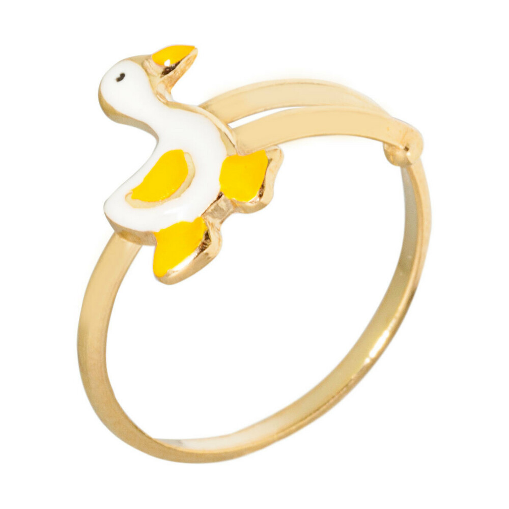 Photo de Bague enfant oie - Or jaune 9ct