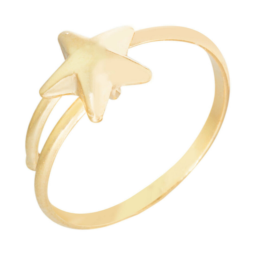 Photo de Bague enfant étoile - Or jaune 9ct