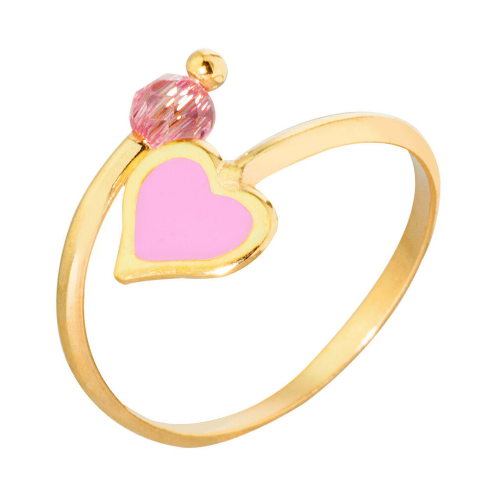 Photo de Bague enfant coeur - Or jaune 9ct