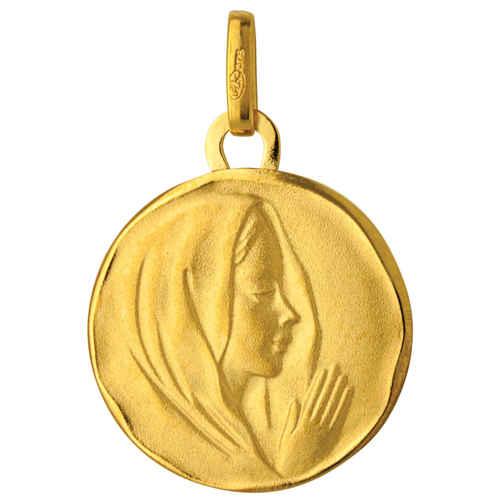 Photo de Médaille Vierge mains jointes - Or jaune 9ct