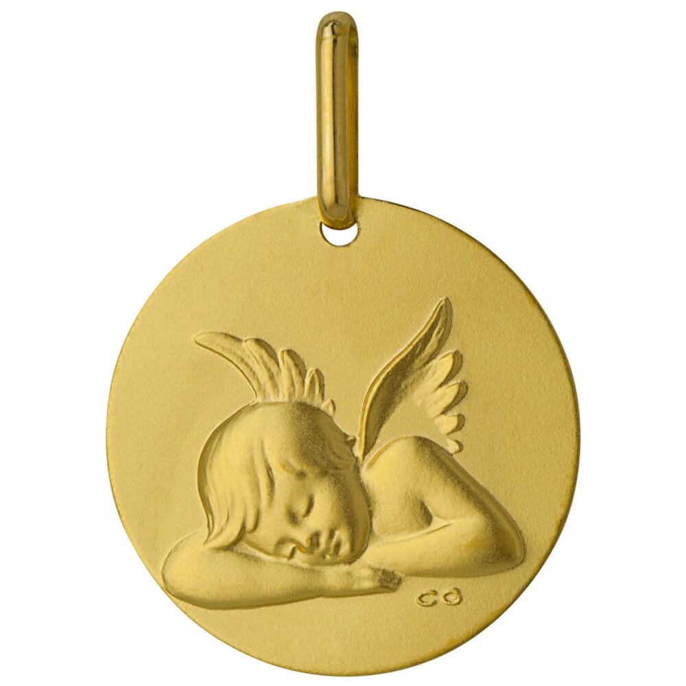 Photo de Médaille Ange ronde - Or jaune 9ct