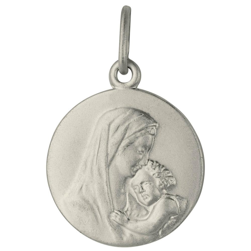 Photo de Médaille Vierge à l'enfant - Argent massif