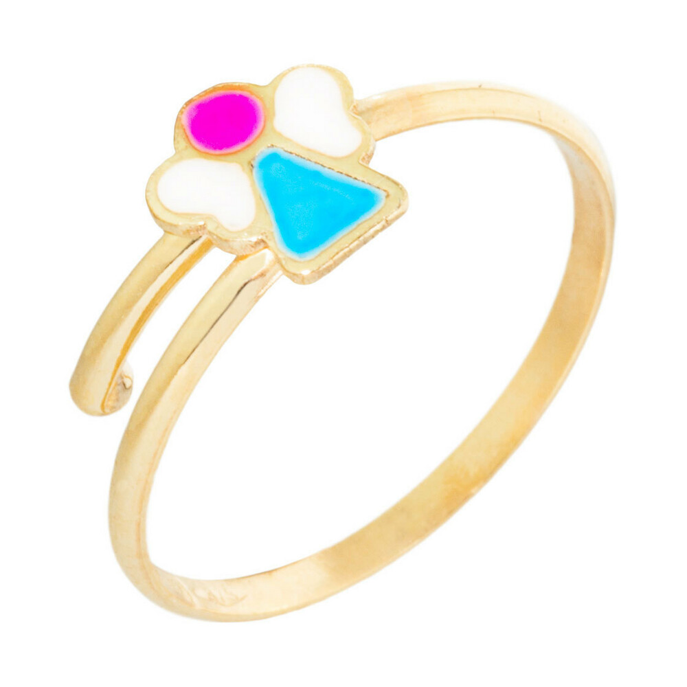 Photo de Bague enfant ange - Or jaune 9ct
