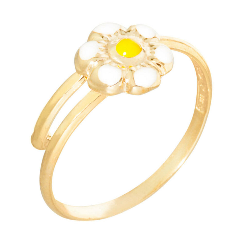Photo de Bague enfant marguerite - Or jaune 9ct