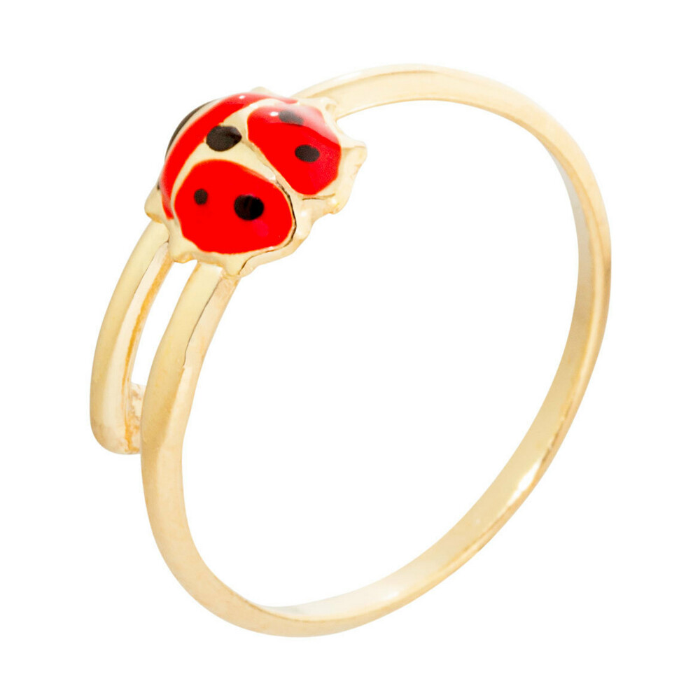 Photo de Bague enfant coccinelle - Or jaune 9ct