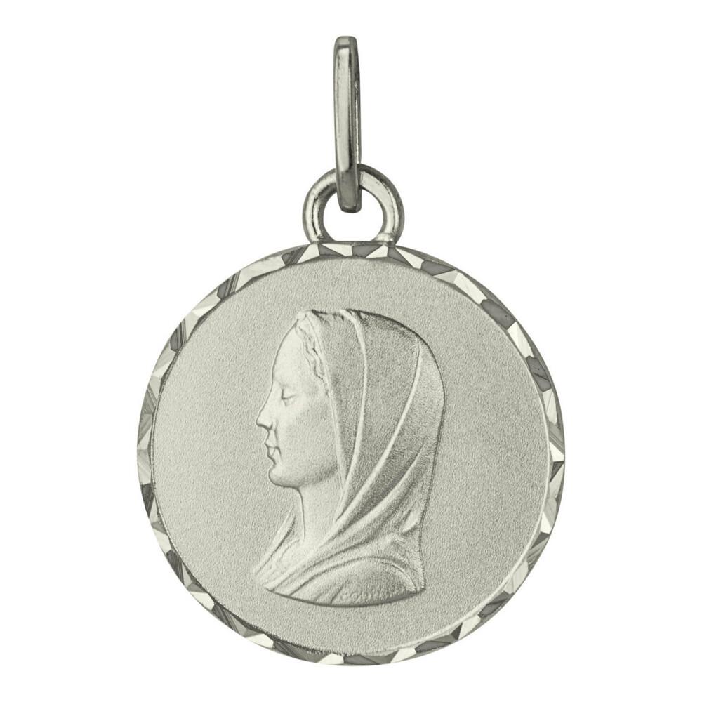 Photo de Médaille Vierge ronde - Argent massif