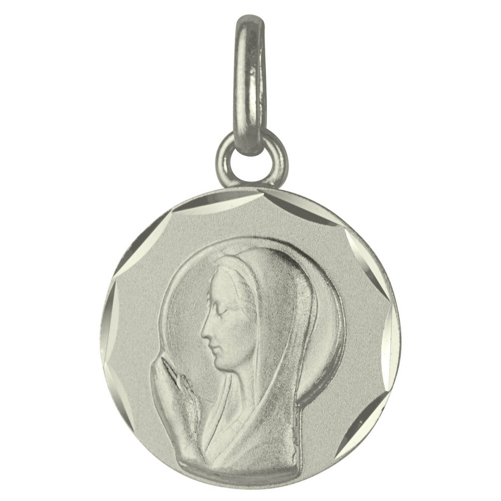 Photo de Médaille Vierge en prière - Argent massif