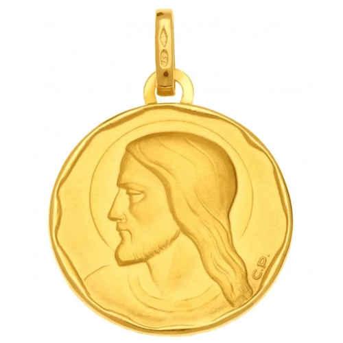 Photo de Médaille Christ ronde - Or jaune 18ct