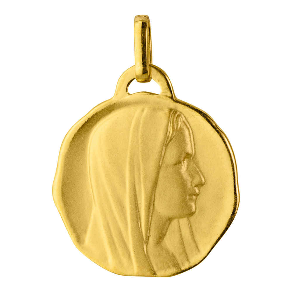 Photo de Médaille Vierge cachet de cire - Or jaune 18ct