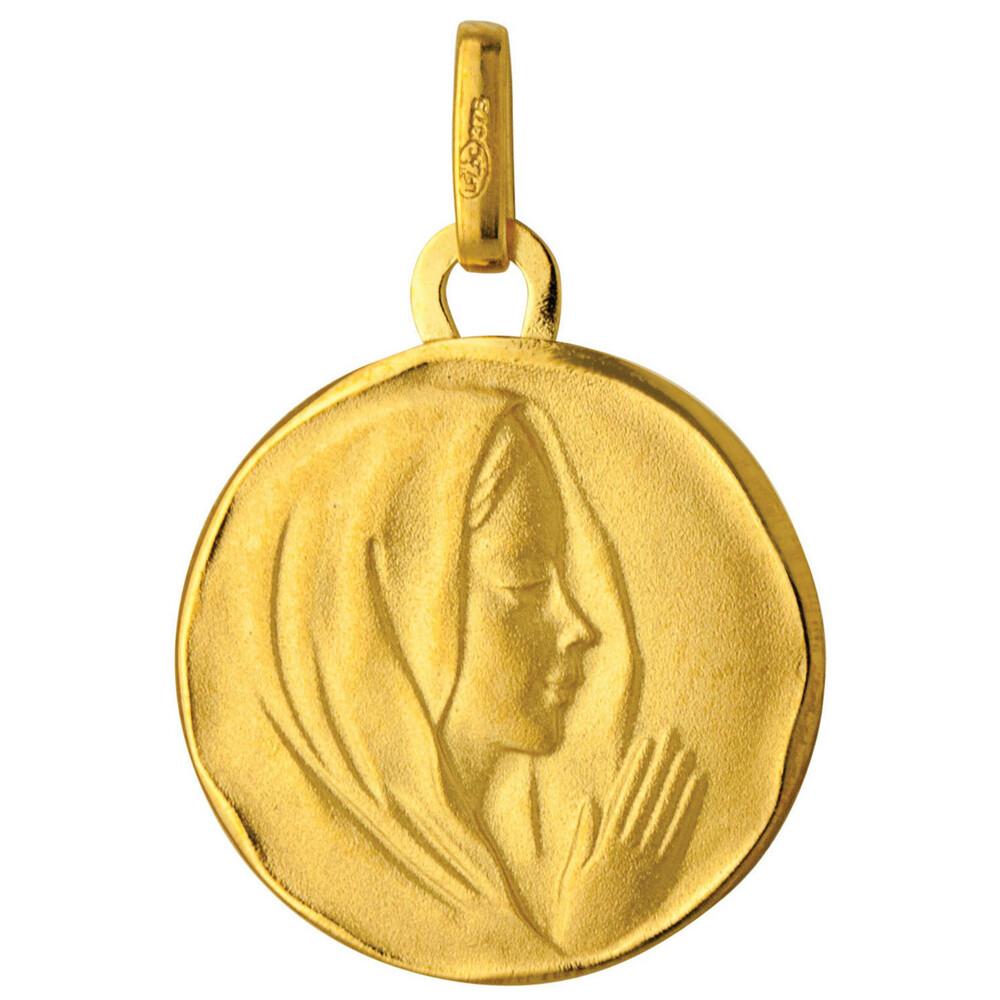 Photo de Médaille Vierge mains jointes - Or jaune 18ct