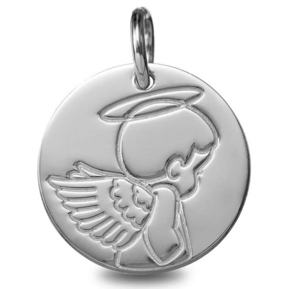 Photo de Médaille Ange auréolé - Or blanc 18ct