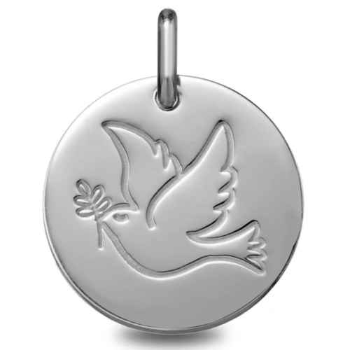 Photo de Médaille de la Colombe - Or blanc 9ct