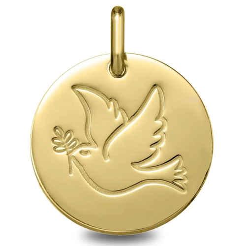 Photo de Médaille Colombe - Or jaune 18ct