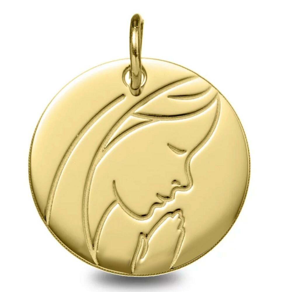 Photo de Médaille Vierge pieuse - Or jaune 9ct