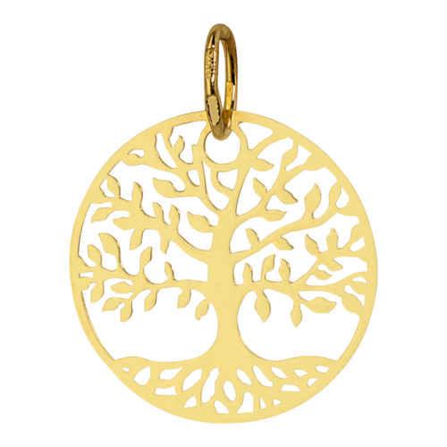 Photo de Médaille Arbre de vie luxuriant - Or jaune 18ct