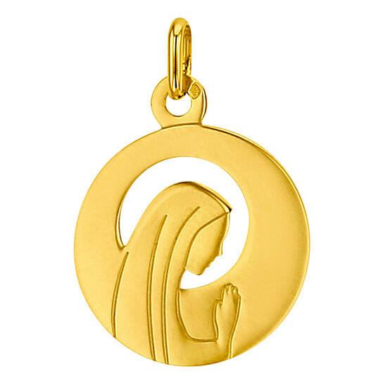Photo de Médaille Vierge ajourée - Or jaune 18ct