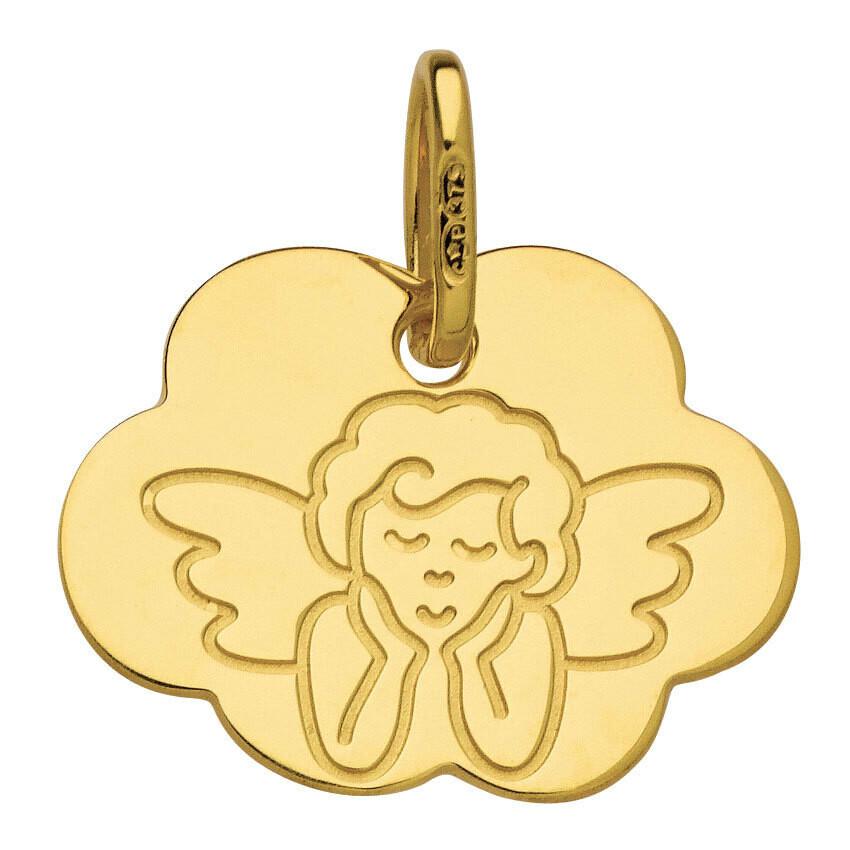Photo de Médaille nuage Ange - Or jaune 9ct