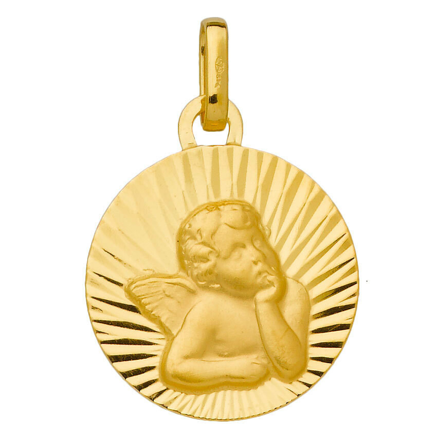 Photo de Médaille Ange solaire - Or jaune 18ct
